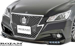 【M's】トヨタ クラウン 210系 (2012/12-2015/9) ROJAM IRT フロントリップスポイラー (LED.Ver)//GRS21 FRP ロジャム エアロ デイライト