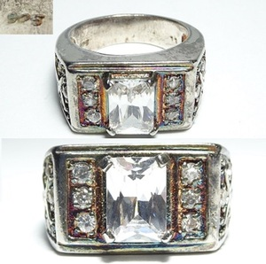 Silver 925 Ring Weight 15G Letter Pack Light Allowed 0124R8H