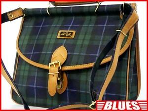 即決★Like★ショルダーバッグ ライク メンズ 緑 グリーン チェック柄 レディース 旅行かばん 肩掛けカバン 鞄 ハンド