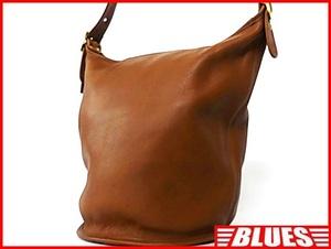 即決★COACH★オールレザーショルダーバッグ オールドコーチ メンズ 茶 ブラウン 本革 レディース 本皮 かばん 肩掛けカバン 斜めかけ鞄