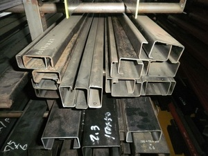 鉄 黒皮・軽量C形鋼(リップ付)材 各形状の(1000~100mm)各定寸長さでの販売F41