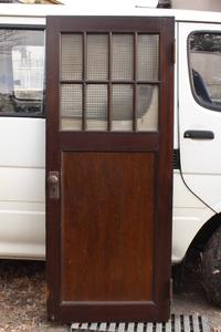 [ receipt limitation (pick up) ] prompt decision #. pavilion. antique glass door # width 73cm# brass door knob cover hinge # wood wooden door door type old fittings Showa Retro old tool antique Vintage
