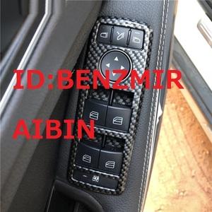 ベンツ W212W204W176W117W221W207W218W246W166 GLA GLK CLA CLS GL ML AMGなど スイッチ カバー ドア ウィンドウ カーボン柄 黒 5ピース