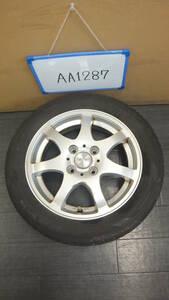 AA1287 ホイール1本 ACTS 4H/PCD100 155/65R14 4.5J Offset +45 スタッドレスタイヤ DUNLOP
