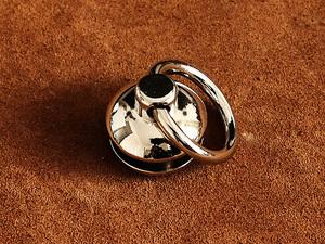 真鍮 ドロップハンドル 大(シルバー)ポスト トチカン 財布 金具 パーツ 工具 ウォレットチェーン レザークラフト 首輪 ペット用品