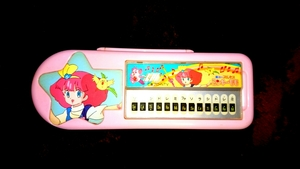 当時物 魔法のプリンセス ミンキーモモ ピアノ 鍵盤 ペンケース 昭和レトロ 昭和 レトロ ファンシー メルヘン 文房具 文具 おもちゃ 筆箱
