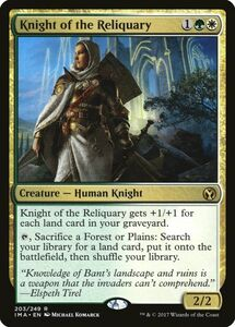 え金 聖遺の騎士 1枚(4枚在庫s 英 良品 IMA)/Knight of the Reliquary(MTG /アイコニックマスターズ/Iconic Masters/)