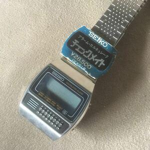 K7 SEIKO Seiko checkmate сигнализация наручные часы 0359-5000 неиспользуемый товар чёрный текущее состояние утиль