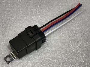 【W-4PR】送料込 送料無料 4極リレー 4P 車載リレー A接点 DC12V 検) ランプ モーター HID ホーン 電装 自作 オプション 追加