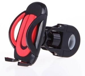 360度回転 スマホ ホルダー 自転車 バイク 青/赤 iPhone
