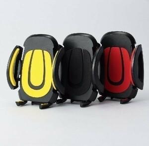 360度回転 スマホ ホルダー 自転車 バイク iPhone 黒/黄