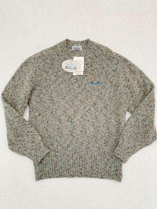 タグ付き Vivienne Westwood MAN イタリア製ウールセーター sizeS ヴィヴィアンウエストウッドマン メンズ ここのえ 国内正規