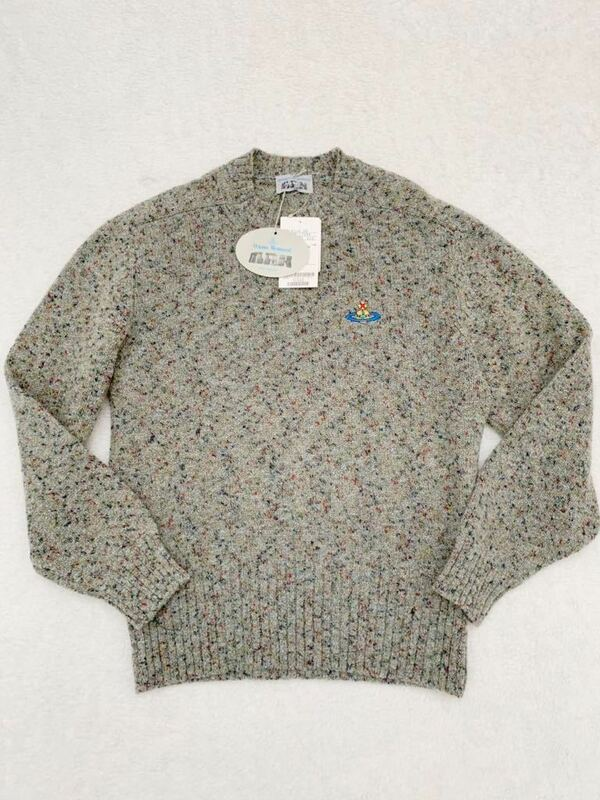 タグ付き Vivienne Westwood MAN イタリア製ウールセーター sizeS ヴィヴィアンウエストウッドマン メンズ ここのえ 國內正規