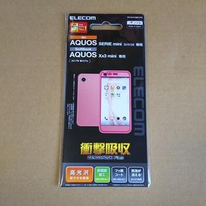 ●ELECOM AQUOS アクオス SERIE mini(SHV38) Xx3 mini 液晶保護フィルム 衝撃吸収 光沢 PM-SHV38FLPG
