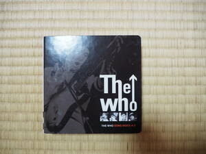 THE WHO SONG INDEX A-Z 以前の 紙ジャケ CDに付録として付いてきてたINDEXとバインダ 紙ジャケット