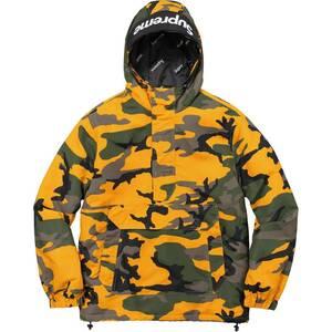 # Supreme 17aw Hooded Logo Half Zip Pullover Yellow Camo Mサイズ イエローカモ 迷彩 総柄 プルオーバー ボックスロゴ Box Logo 17fw
