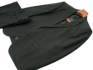 新品 春夏 AB4 身長165㎝ ウエスト86㎝ 2ボタン ノータック スリムスーツ 織柄ストライプ 黒 ブラック d139