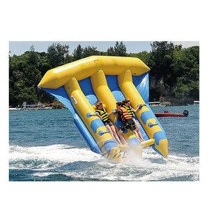 空飛ぶバナナボートです。思いっきり楽しんで!