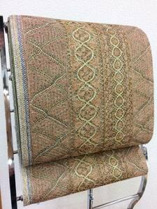 【絹都】 送料無料 仕立て付き 正絹袋帯 洛陽織物レース織 全通柄 13-24 落札後に仕立てます おしゃれ袋帯 商品動画あり
