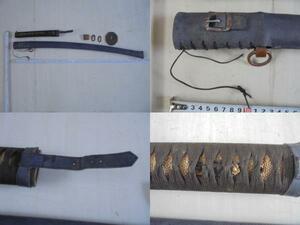 AKa6322◆隼◆旧日本軍 軍刀 外装 拵え 刀装具① 当時物 旧家蔵出骨董初だし