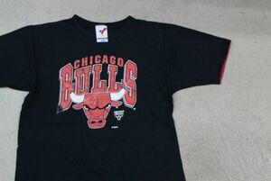 【KID'S古着レア NBA CHICAGO BULLSシカゴブルズVINTAGEリバーシブル Tシャツ黒M 10-12】バスケットボールマイケルジョーダンLASTDANCE