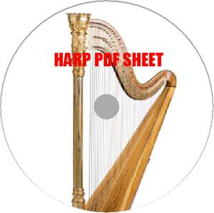 ハープPDF楽譜集200譜クラシック電子譜HARP弦楽器楽iPadiPhone練習初心者激レアプロ演奏者指揮者運指音楽曲作曲家パート譜スコアipadproに