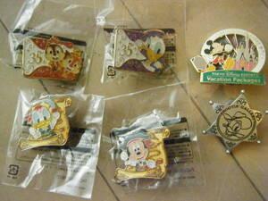 東京ディズニーシー「コブラの罠」ピンバッチなど6個セット・未使用総額3000円
