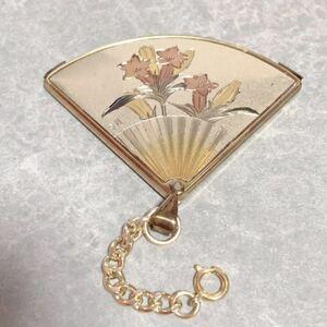 ハンドミラー 扇子型 ミニミラー 和風 鏡