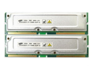 Samsung 256MBx2 pieces set 512MB minute PC1066-32 8d ECC RDRAM RIMM Precision 350 etc. correspondence