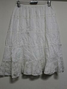 パシフィックコースト PACIFIC COAST レディーススカート アイボリー Mサイズ 新品