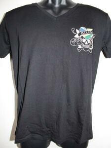 エドハーディー ED HARDY メンズ半袖Tシャツ Mサイズ ブラック VB052 新品