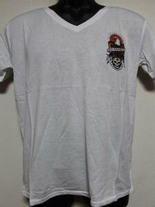エドハーディー ED HARDY メンズ半袖Tシャツ Mサイズ ホワイト MV028 新品