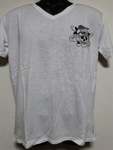 エドハーディー ED HARDY メンズ半袖Tシャツ Lサイズ ホワイト US052 新品
