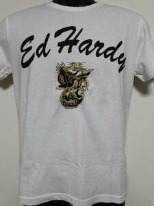 エドハーディー ED HARDY メンズ半袖Tシャツ ホワイト Sサイズ FG462 新品