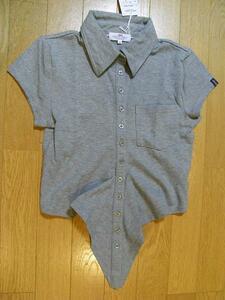 パシフィックコースト PACIFIC COAST レディース半袖ポロシャツ グレーMサイズ 新品