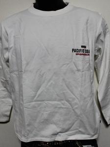 パシフィックコースト PACIFIC COAST メンズ長袖Tシャツ ホワイト XSサイズ 新品