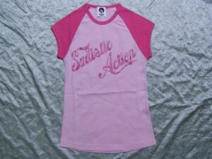 サディスティックアクション SADISTIC ACTION レディース半袖Tシャツ ピンク Sサイズ 新品