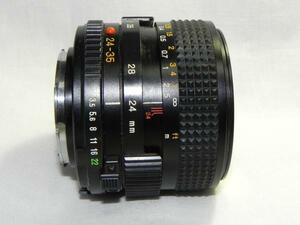 Minolta MD ZOOM 24-35mm/F 3.5 レンズ*