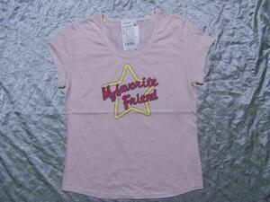 パシフィックコースト PACIFIC COAST レディース半袖Tシャツ ピンク Lサイズ 新品
