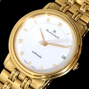 C9229【BLANCPAN 1735】ブランパン世界最古の時計メーカー 最高級18金無垢メンズ自動巻式
