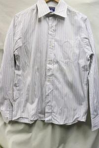 【210331】【メンズ】R.NEWBOLDストライプBD長袖シャツ☆ブランドシンプル重宝M