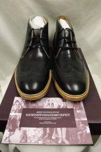 【211006】期間限定今だけSALE【メンズ】Johnston & Murphyウィングチップチャッカブーツ☆新品高級高品質9M