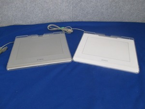 T)WACOM авторучка & мышь планшет CTE-640 (WHITE)(SILVER)2 шт. комплект б/у товар текущее состояние доставка