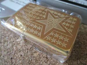 ZIPPO 『Stars of Hollywood 100yers ハリウッド映画 100周年記念』2003年8月製造 ゴールド オイルライター ジッポー 廃版激レア 未使用品