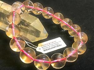天然石超希少『ピンクファントムクォーツ』ブレスレット13㎜(大粒)レアストーン 女性ホルモン活性化 ダイエットサポート ウツ病改善