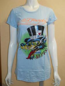 新品 デッドストック Ed Hardy ラインストーン Tシャツ チュニックワンピース レディース XS エドハーディー メ4954