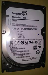 Seagate 2.5インチ SATA 320GB HDD ST320LT012 スリム7mm厚 正常判定 中古動作確認済み 送料無料 即決
