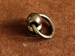 真鍮 ドロップハンドル 小(ゴールド)ポスト トチカン 財布 金具 パーツ 工具 ウォレットチェーン レザークラフト 首輪 ペット用品