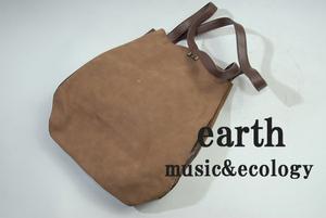 500円スタート MB3712 earth music&ecology レディース トートバッグ 合成皮革 Fサイズ 安値出品 お買い得 SALE