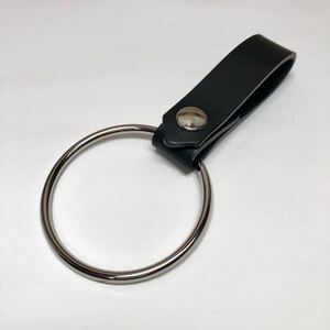 新品 送料無料 本革ベルトループキーホルダー シドリング ブラック 黒 パンク ロック V系